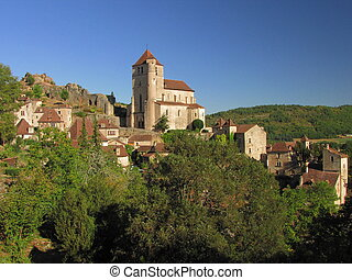 Village Lapopie, Landscape - Valley of Lot in Midi-Pyrenees