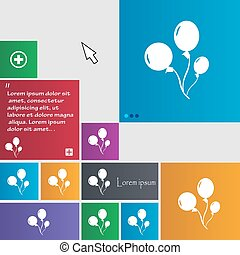 Balloons icon sign. buttons. Modern interface website...
