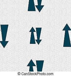 dois, maneira, tráfego, ícone, sinal, Seamless, Padrão, com,...