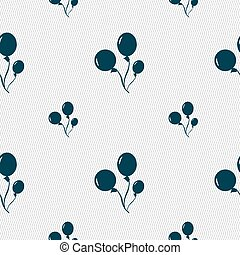 Balloons icon sign. Seamless pattern with geometric texture....