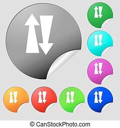 Botões, Multi, jogo, colorido, sinal, dois, tráfego,...