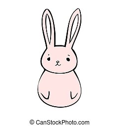 Pink hare icon
