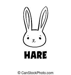 Black hare icon