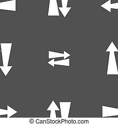 cinzento, Padrão, sinal, seamless, dois, fundo, vetorial,...