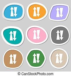 dois, maneira, tráfego, symbols., Multicolored,...
