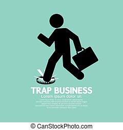 Businessman Step On A Business Trap
