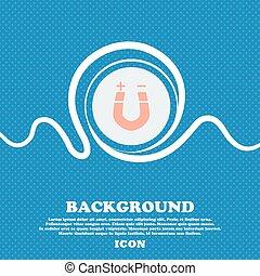 horseshoe magnet, magnetism, magnetize, attraction sign Blue...