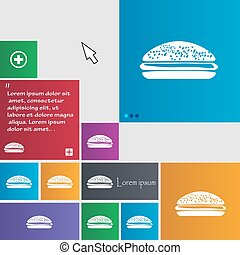 Burger, hamburger icon sign. buttons. Modern interface...