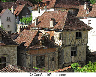 houses, village Lot - Valley of Lot in Midi-Pyrenees
