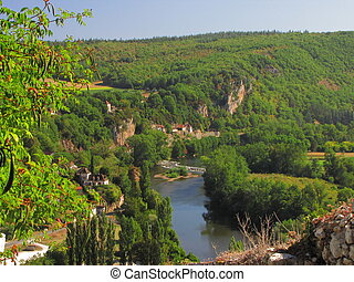 Valley, river, Lot - Valley of Lot in Midi-Pyrenees