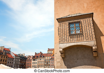 Remarkable window of Warsaw\'s Old Town