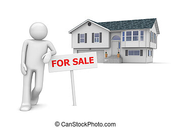Workers collection - Real estate agent - 3d characters...