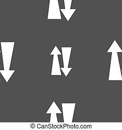 dois, maneira, tráfego, ícone, sinal., Seamless, Padrão,...