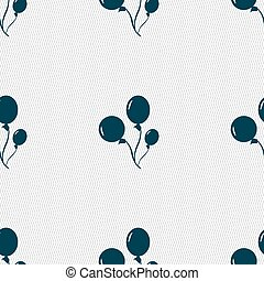 Balloons icon sign Seamless pattern with geometric texture...