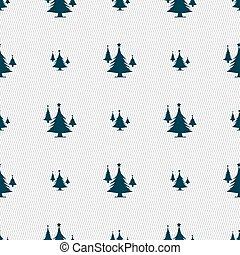 coniferous forest, tree, fir-tree icon sign Seamless pattern...
