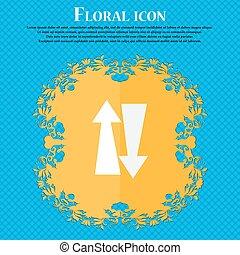 dois, maneira, tráfego, icon., floral, apartamento,...