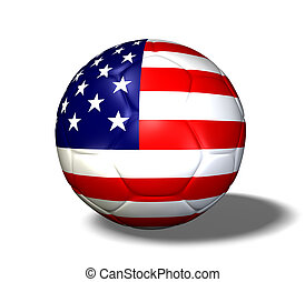 USA Soccerball - Image of a soccer ball with the flag from...