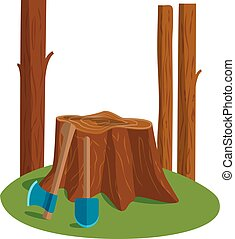 Deforestation vector illustration - Deforestation awareness,...