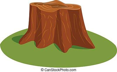 Tree stump vector illustration. - Illustration of tree stump...