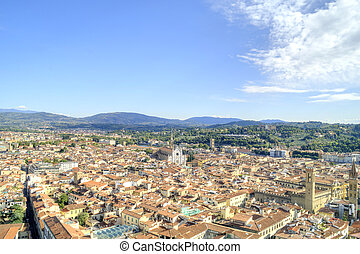 Florence. View from the height of bird flight