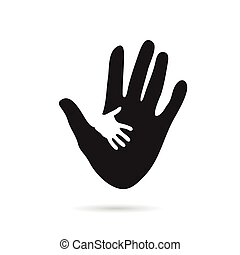 hand black and white illustraton - hand black and white...