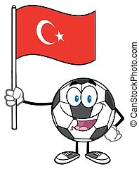 Ball Holding A Flag Of Turkey
