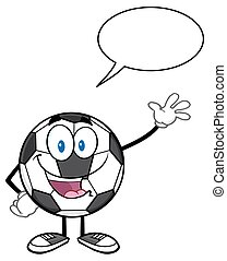 Soccer Ball With Speech Bubble