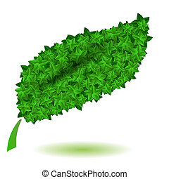 Green Leaves Isolated. Symbl of Nature - Green Leaves...