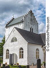 Norra Vrams church in Sweden - The old white norra vrams...
