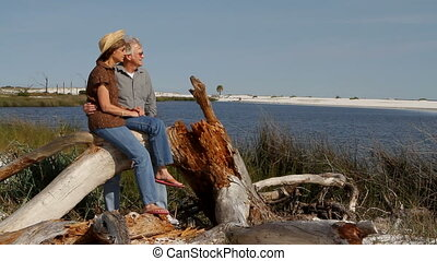 Couple On Log