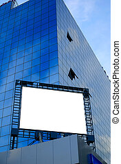 billboard in the city - giant blank billboard, display on a...