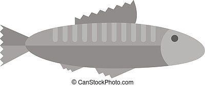 Fish vector illustration. - Fish floating, water pollution...