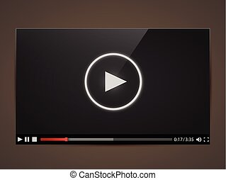 Modern video player for web Vector illustration