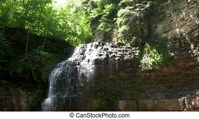 Tiffany Falls. - Tiffany Creek falling over Niagara...