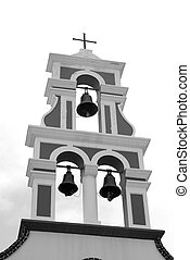 Bell tower of old churche in Piskopiano.
