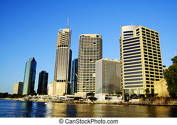 Brisbane Australia - View of Brisbane city skyline...