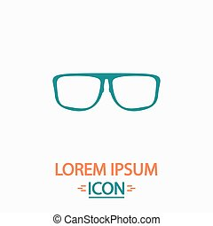 Glasses computer symbol - Glasses Flat icon on white...