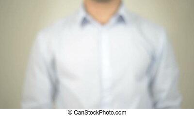 """Cost, Man writing on transparent screen"" - ""Businessman,..."