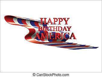 happy bday usa on white - birthday greetings for July 4th on...