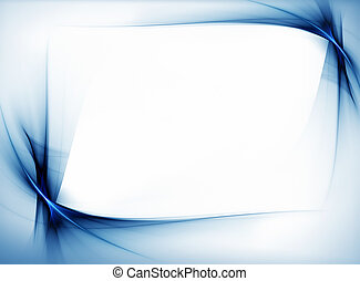 blue wavy border - blue wavy frame with copy space on white...