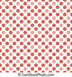 Abstract seamless pattern of circles in white and red colors...