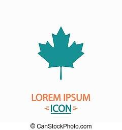 Canadian Leaf computer symbol - Canadian Leaf Flat icon on...