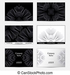 Set of designs for business cards