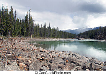 Athabasca River - A view of the Athabasca River from Jasper...
