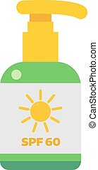Sunscreen cream vector illustration. - Cream sunscreen...