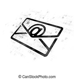 Business concept: Email on Digital background - Business...