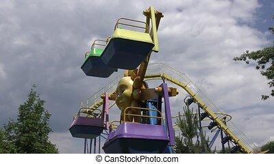 Carousel for children in the summer Park