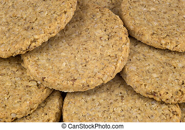 Stack of Traditional Scottish Oatmeal Biscuits -...