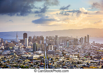 San Francisco Skyline - San Francisco, California, USA...