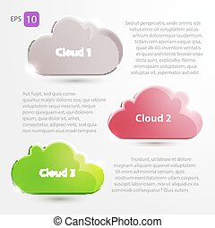 Cloud Icons. Cloud Internet, telecommunications and...